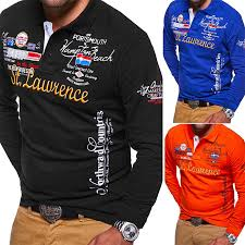 <b>Zogaa 2019</b> Autumn Breathable Cotton Slim Polo Shirts Men Long ...