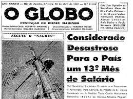 Resultado de imagem para manchetes principais do ano de 1962