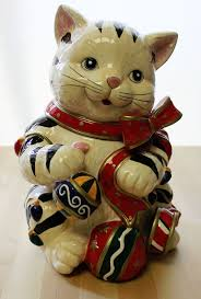 Signature Home Collection <b>Christmas</b> Kitty Cookie Jar Kitty Candy ...