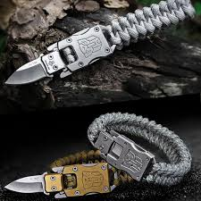 <b>3pcs lot</b> Outdoor Survival Bracelet Umbrella Rope <b>Multi Function</b> ...
