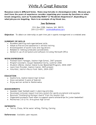 help building a great resume