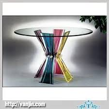 transparent round acrylic perspex table with bunchy legs acrylic perspex furniture