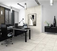 black home office officechic modern home office design with stylish black chair and t shape black chic shaped home office