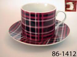 <b>Чашка с блюдцем Lefard</b> шотландия бордо 2пр   Блюдце, Чашка ...
