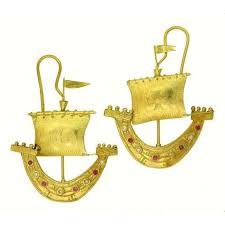 gold, gems, boat, earrings by itali lambertini   <b>Серьги</b>, Аксессуары и ...