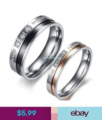 """Rings 6Mm/4Mm Stainless Steel """"You Are My <b>Only Love</b>"""" <b>Couple's</b> ..."""