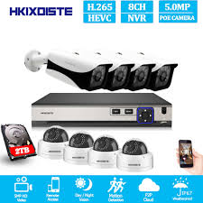 H.265 <b>16CH</b> 5MP POE NVR CCTV System 5MP Outdoor IP67 ...