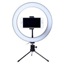 Photo <b>LED</b> Selfie Stick Ring <b>Fill Light</b> 10inch Dimmable <b>Camera</b> ...