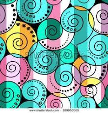 <b>Retro</b> seamless abstract pattern with <b>curly</b> lines <b>vintage striped</b> ...