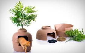 plant litter box cover this is a great way to hide that cat litter box if you turn it away from view no one will ever know where or why your cat bookcase climber litter box