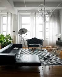 charming living room design ideas black leather simple sectional sofa gray chevron pattern rug round beige charming eclectic living room ideas
