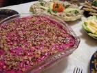 Салат с курицей грецкими орехами со свеклой