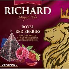 """<b>Чай Richard</b> """"<b>Royal</b> Red Berries"""" <b>фруктово</b>-<b>травяной</b> 20 пирамидок"""
