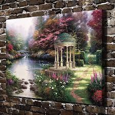 garden bedroom h thomas kinkade the garden of prayer sceneryhd canvas print home deco