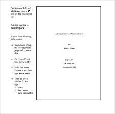 sample mla cover page template  documents in pdf word simple mla cover page