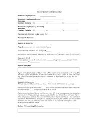agreement wordtemplates net part  nanny contract template