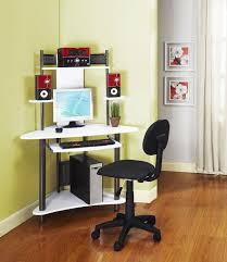 white and black small corner computer desk chic corner office desk oak
