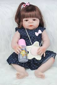 55cm Full Body Silicone Reborn Girl <b>Baby Doll Toys 22inch</b> ...