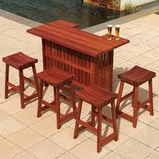 wooden patio furniture sets bar