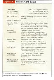 best ideas about chronological resume template sample chronological resume