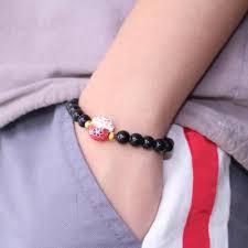 2019 New Gift Obsidian <b>Bracelet Lucky Cat</b> Cute <b>Women Bracelet</b> ...