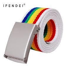<b>IFENDEI</b> Canvas <b>Belt Men</b> For Jeans Metal Buckle <b>Designer Belts</b> ...