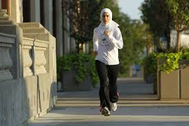 Image result for muslim woman  exercising