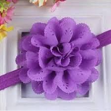 Purple <b>Flower</b> Headband, Mini Chiffon <b>Rose</b> Headband or Hair Clip ...