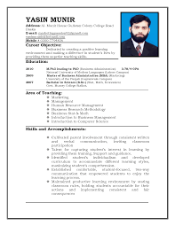 sample curriculum vitae for teachers teacher resume templates