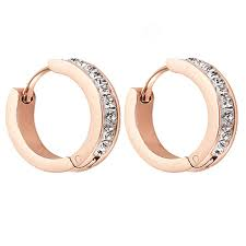 <b>OUFEI Hoop Earring</b> Stainless Steel Round Earring For <b>Woman</b> ...