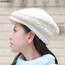 <b>SUOGRY Women</b> Fashion Knitted Hat Winter Solid Color Warm ...