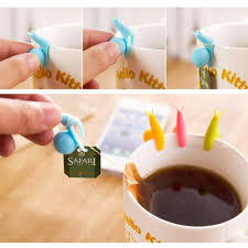 <b>20 Pcs Cute Snail</b> Shape Silicone Tea Bag Holder Cup Mug ...
