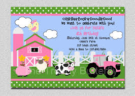 farm birthday invitation farm animals birthday party birthday party invitation pink and green printable invitation 128270zoom