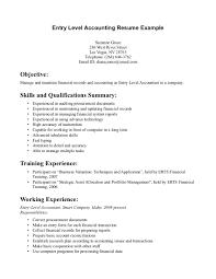 doc resume skills entry level com resume examples entry level resume example cover letter accounting