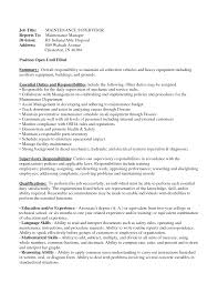 maintenance manager resume com maintenance manager resume and get ideas to create your resume the best way 11