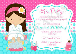 spa party invitation spa party invitation spa birthday party spa invitation diy print your own choose your girl