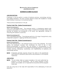 cosmetologist resume cover letter ideas job description for gallery of cosmetologist job requirements