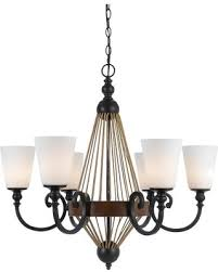 cal lighting monticello resin metal amp burlap 6 light chandelier wood cal lighting wood chandelier