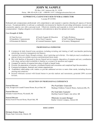 funeral director resume funeral resume cover letter gallery of purchasing resume objective
