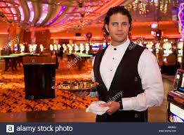 casino food server stock photo royalty image alamy casino food server