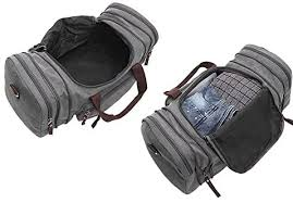 ZYSY Unisex <b>Canvas</b> Holdall Weekend Bag Overnight Bag Travel ...