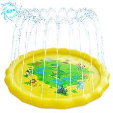 <b>LEEHUR</b> Sprinkler for Kids Splash Play Mat 67x67inch Outside ...