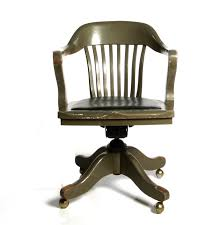 image of antique wood swivel desk chair antique wood office chair