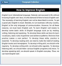 how to learn english essay learning english essay paragraph collection  android apps on google play paragraph collection screenshot