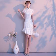 <b>2019 chinese dress qipao</b> embroidery modern <b>cheongsam lace</b> ...