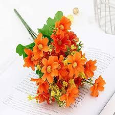 dfgjdryt <b>1 pcs Artificial</b> Flower Faux Silk Daisy Wildflowers Greenery ...