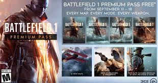 DICE ofrecerá gratis el Premium Pass de Battlefield 1 por tiempo ...