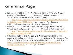 Should college athletes be paid  SlideShare
