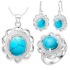 <b>Thick silver jewelry set</b> of new fashion lace round set of beautiful US