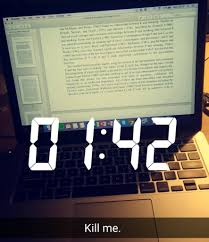 if you don t write essays last minute you re missing the point of uni hello darkness my old friend